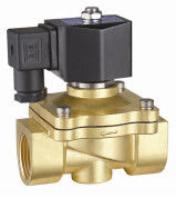 24VDC Brass Electric Solenoid Valve 2 Way Zero Differential Pressure